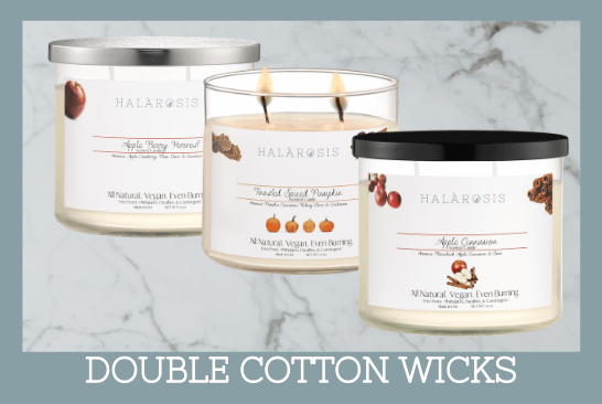 Double Cotton Wicks