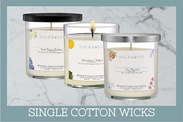 Single cotton wicks